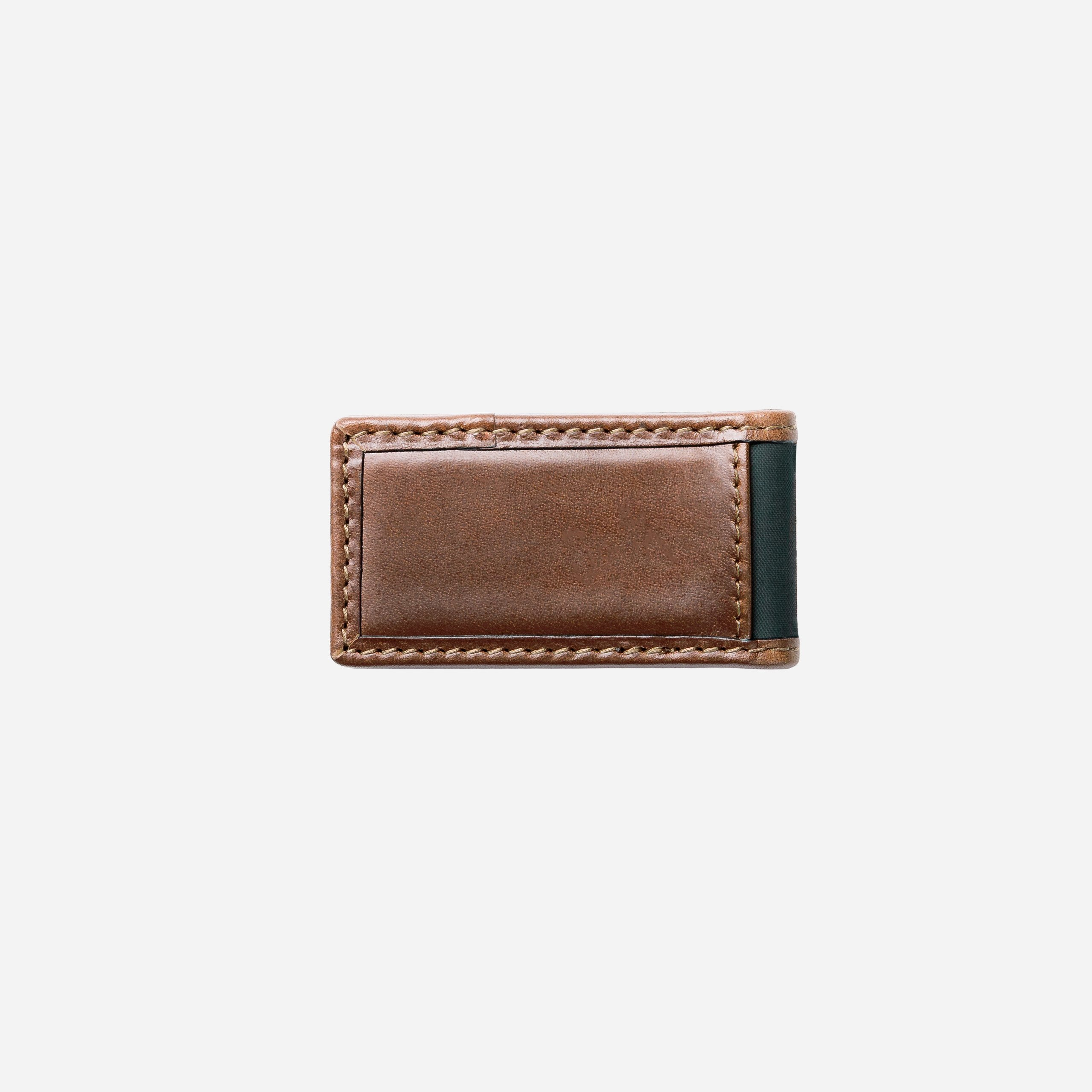 Leather Money Clip Back
