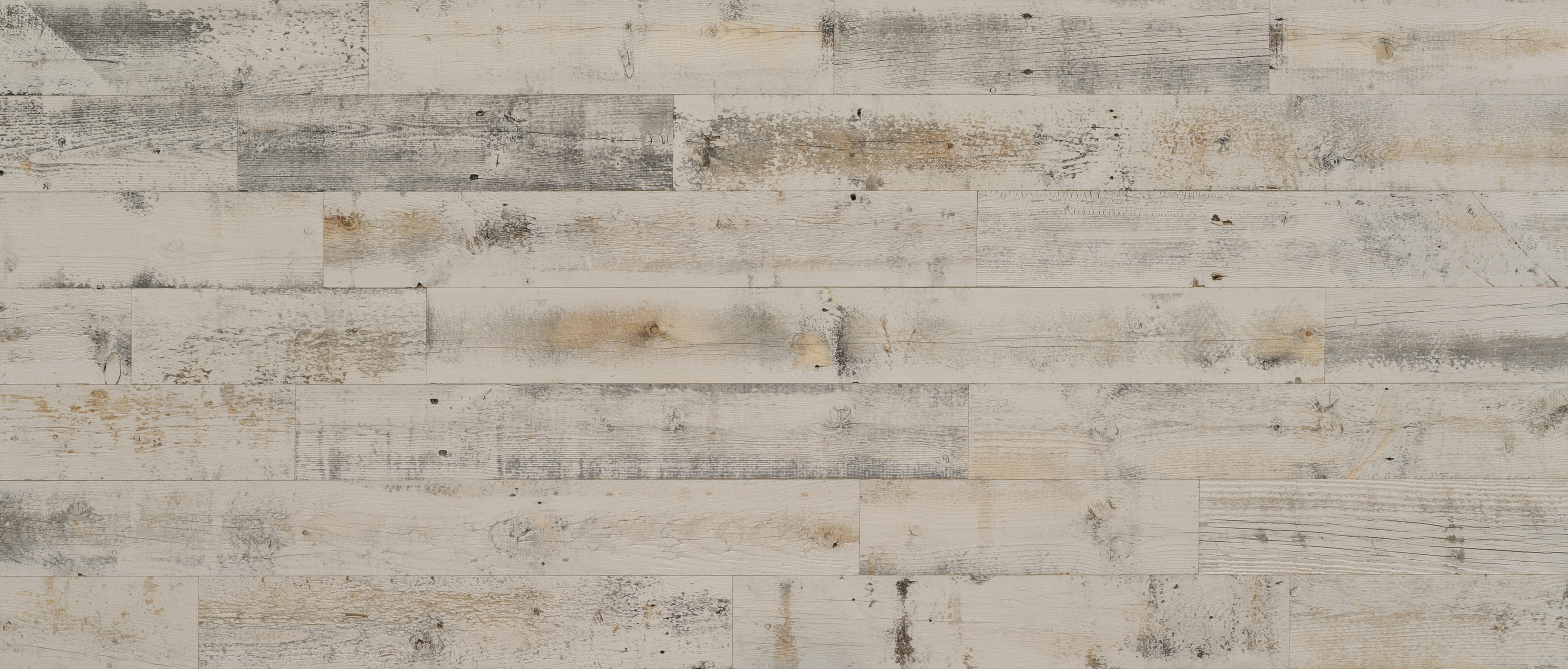 Stikwood Reclaimed Weathered Wood Gray material explorer | real reclaimed barnwood pine peel and stick wood wall and ceiling planks with light, gray, tan, black and brown colors.