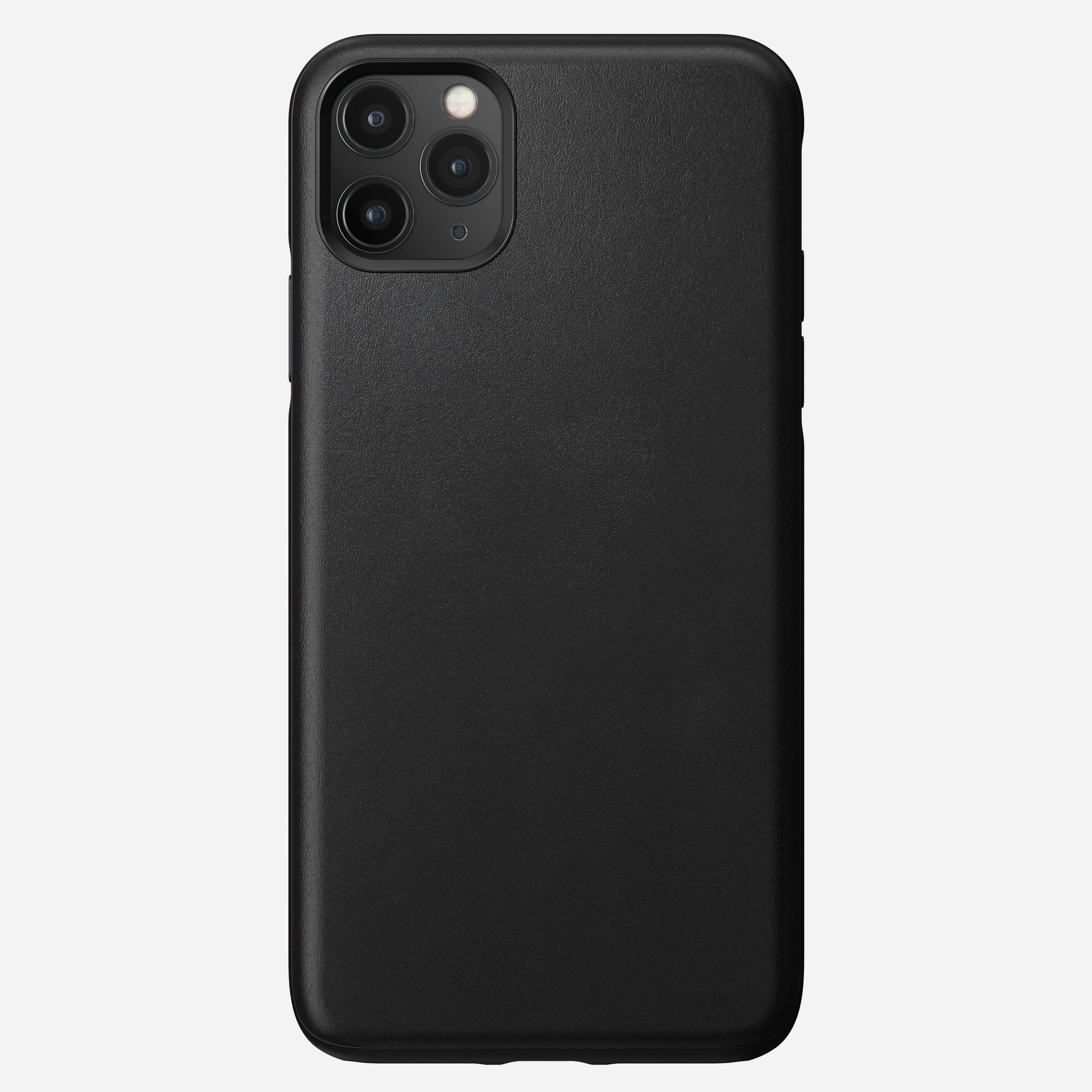 Rugged Leather Case for iPhone 11 Pro Max, Black