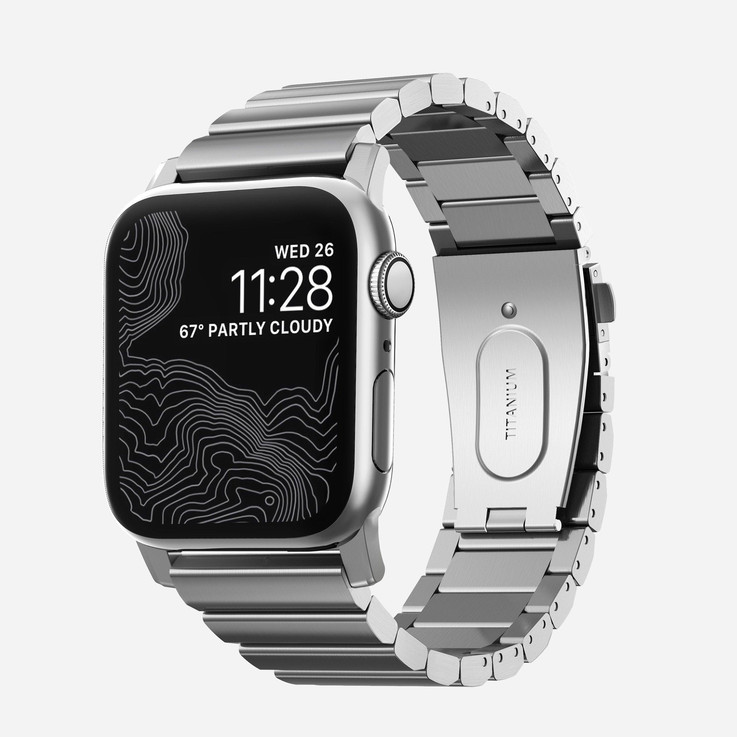 Apple Watch Titanium Band, Silver Hardware