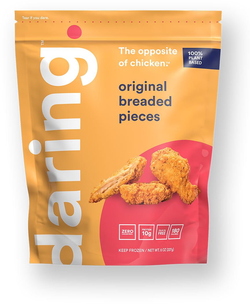 Daring Foods Original Breaded Pieces Plant Based Chicken Package
