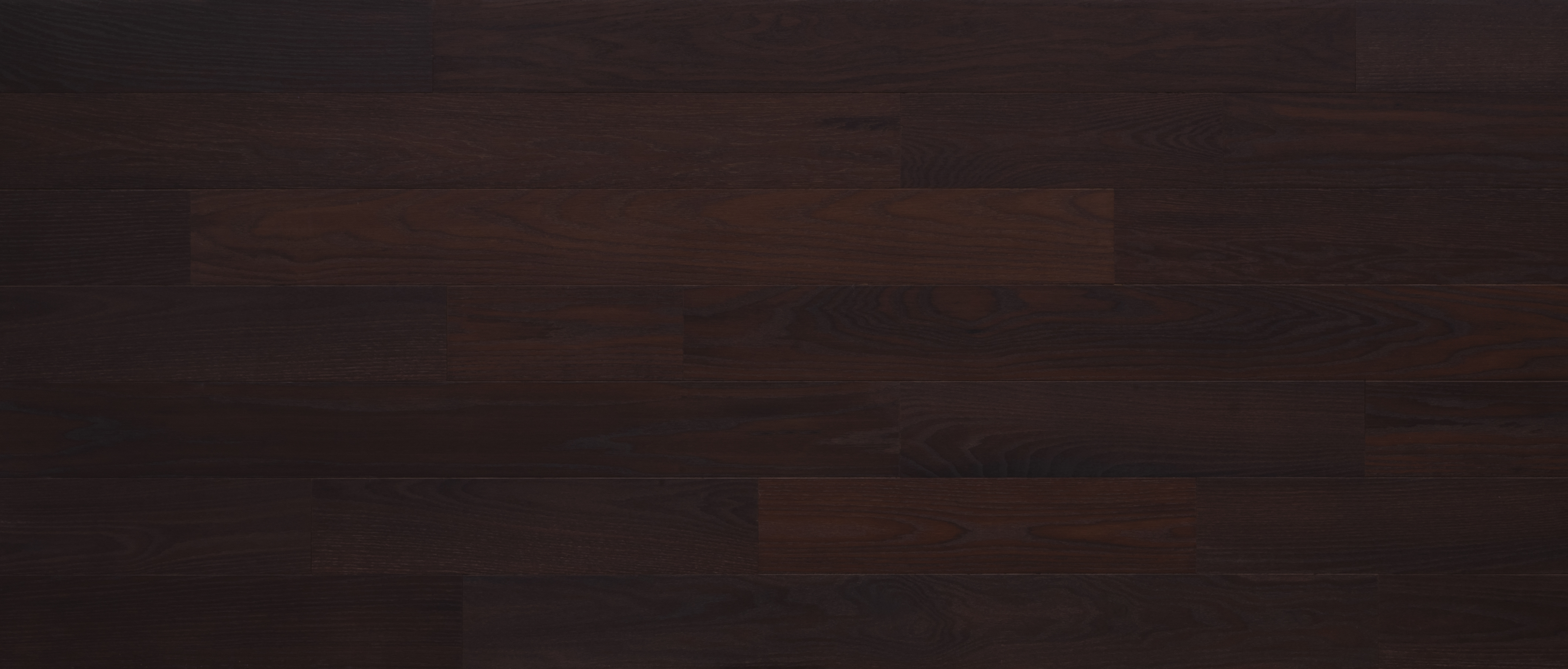 Stikwood Black Cherry material explorer   sustainable oak peel and stick wood wall and ceiling planks with dark brown and warm red colors.