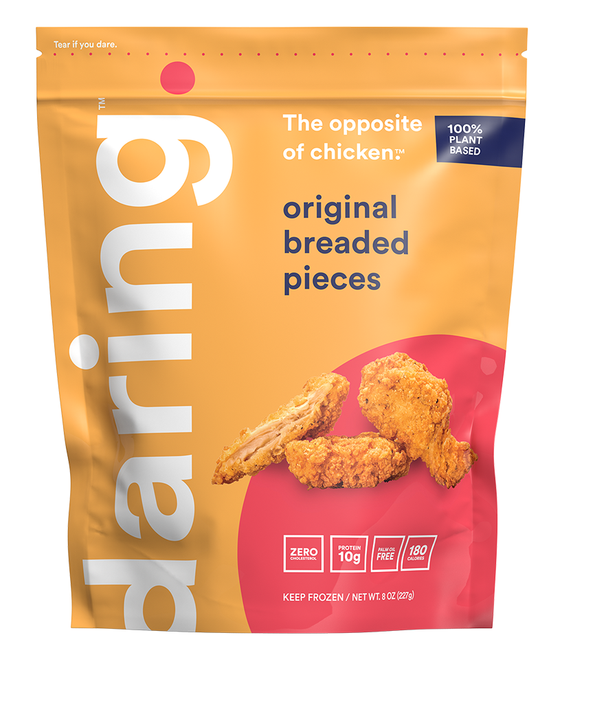 Daring Foods Breaded Plant Based Chicken Pieces front of package
