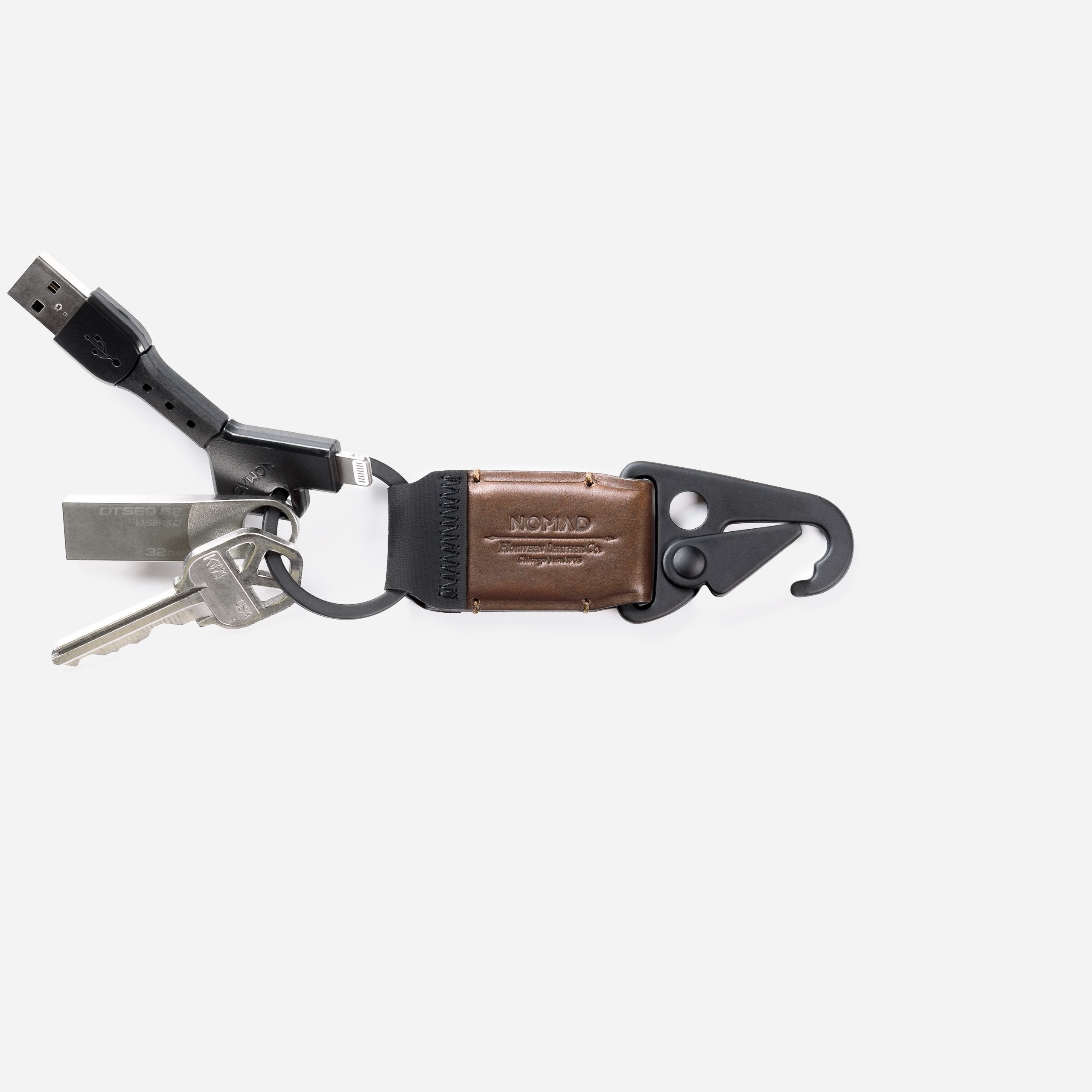 Leather Keychain Clip With Keys