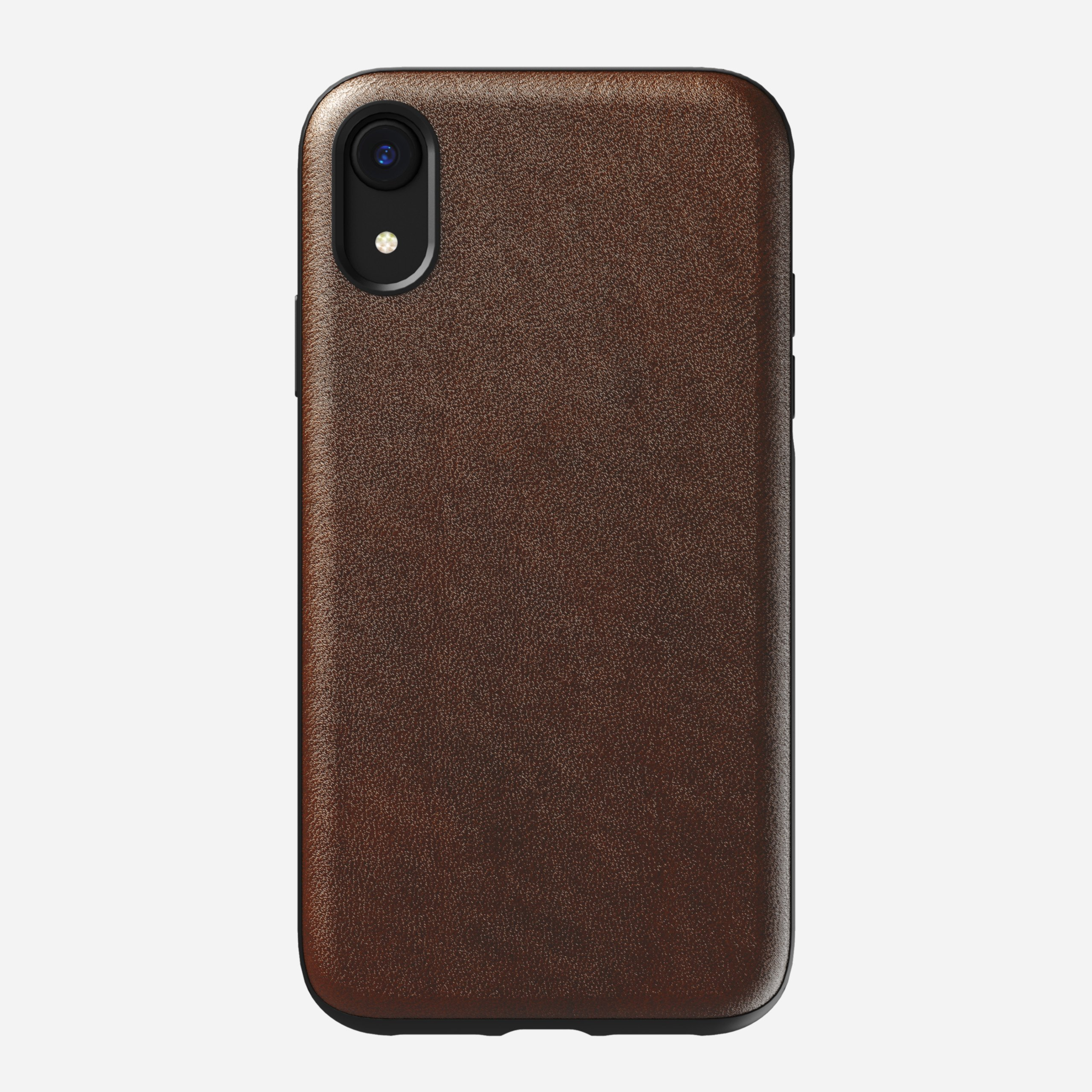 Rugged Leather Case for iPhone Xr, Brown