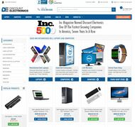 Screenshot of Discount Electronics HomePage