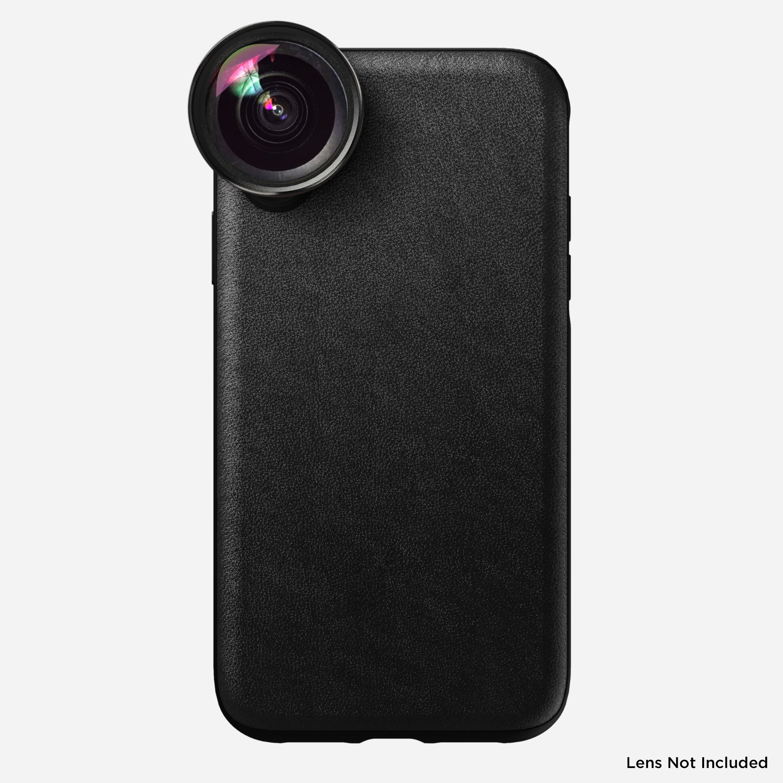 Rugged Leather Moment Case for iPhone Xr, Black