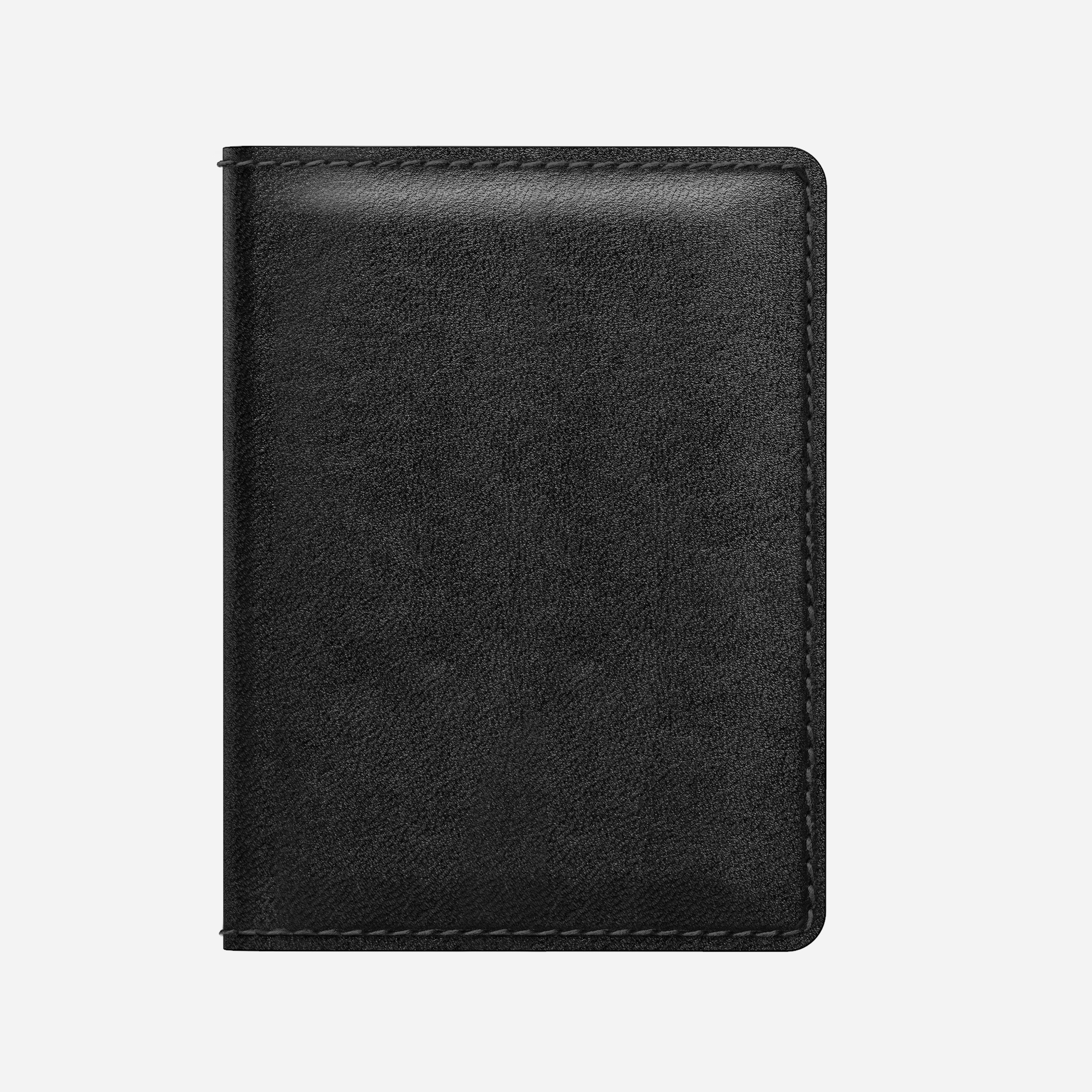 Bi-Fold Leather Wallet, Black