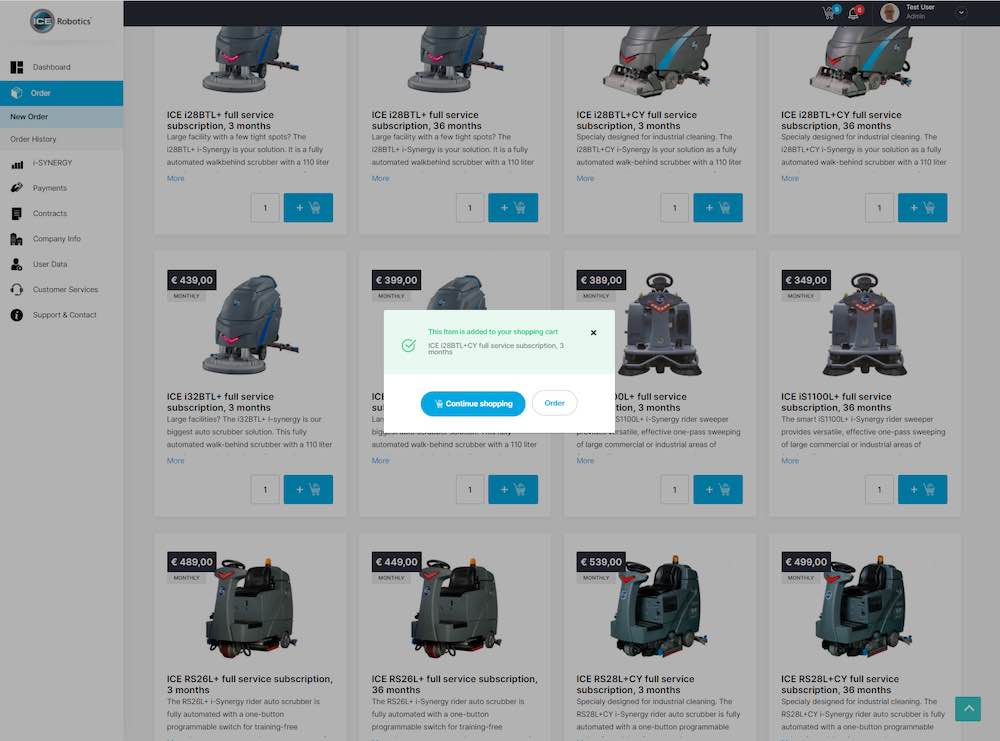 Image of ordering machines