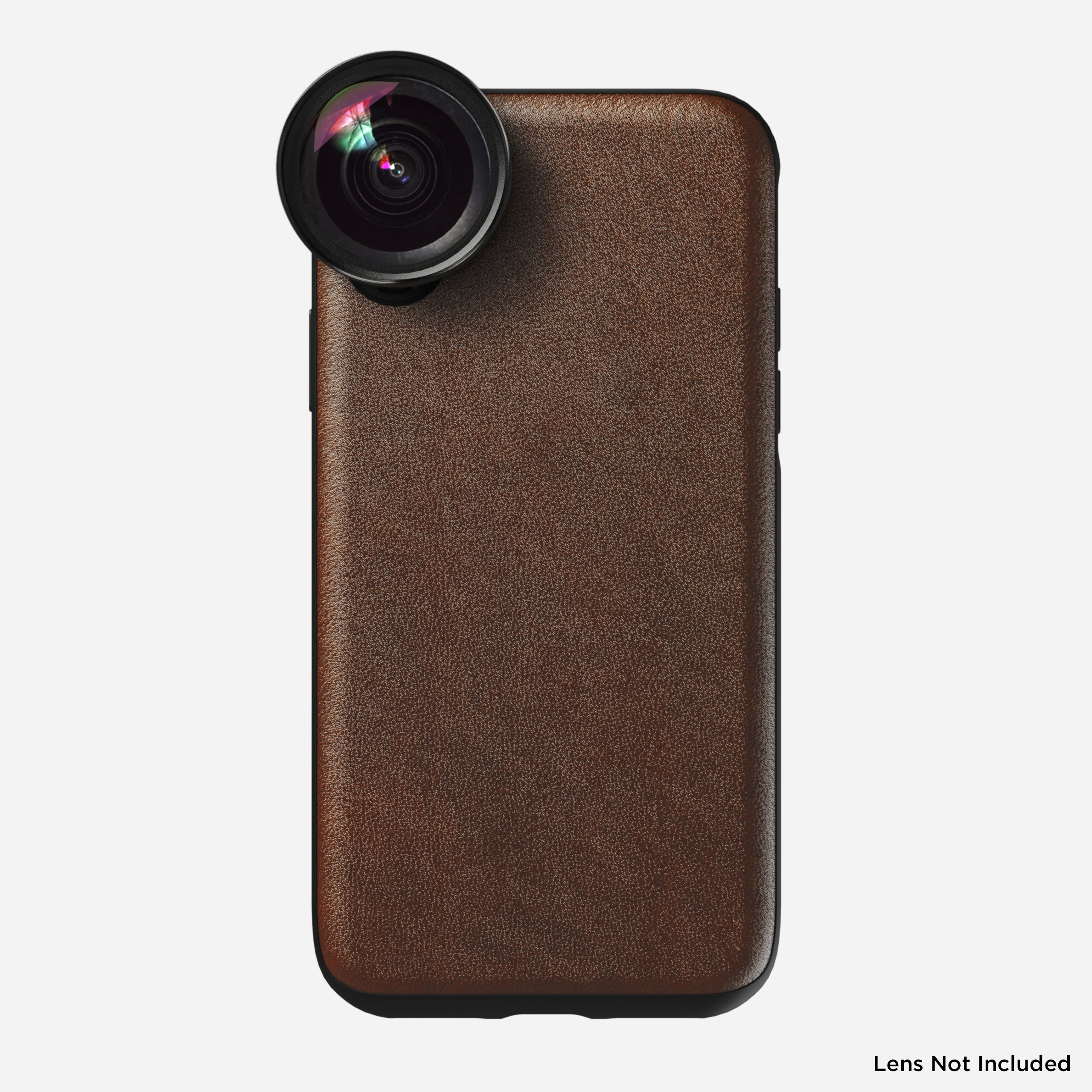 Rugged Leather Moment Case for iPhone Xs, Brown