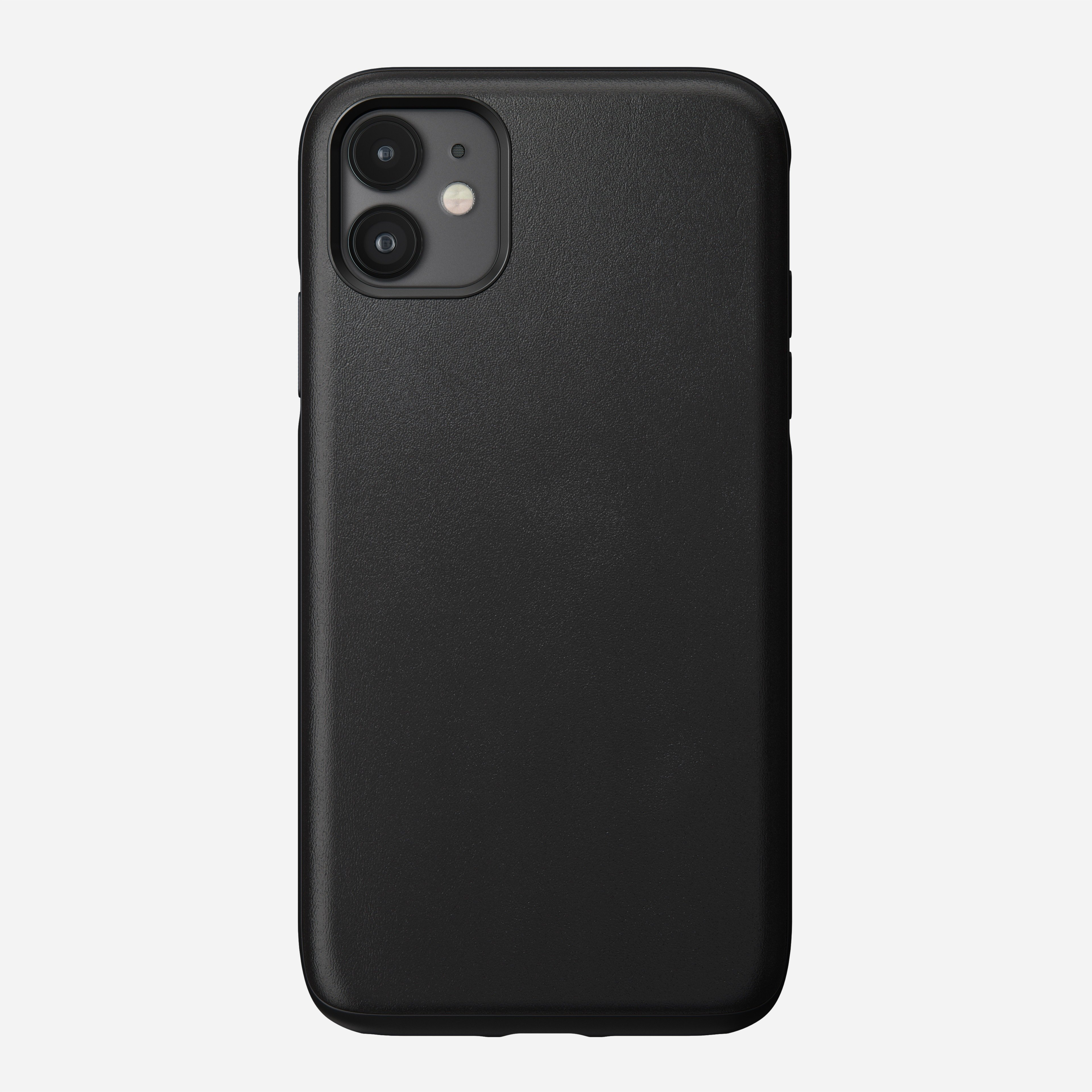 Rugged Leather Case for iPhone 11, Black