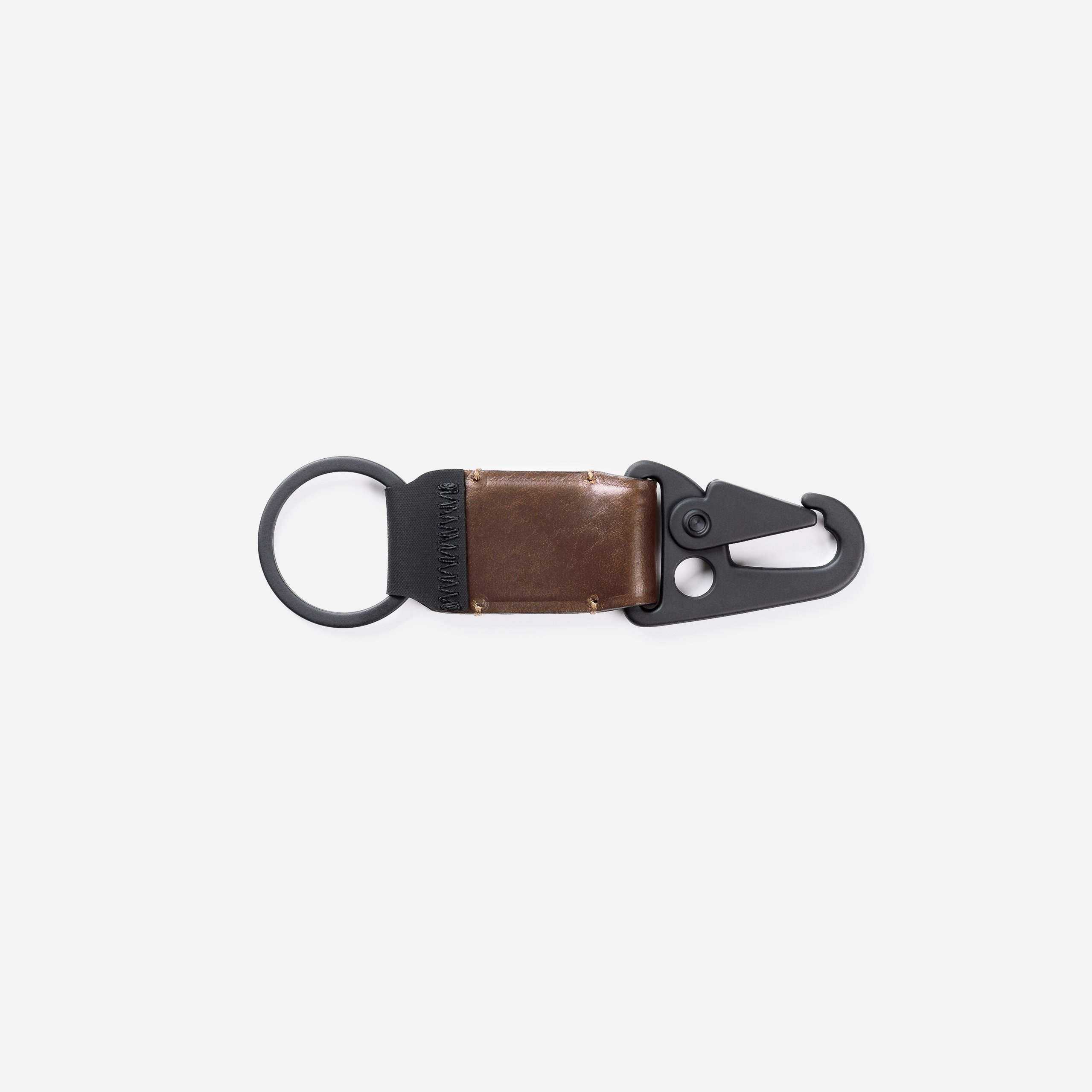 Leather Keychain Clip Closed