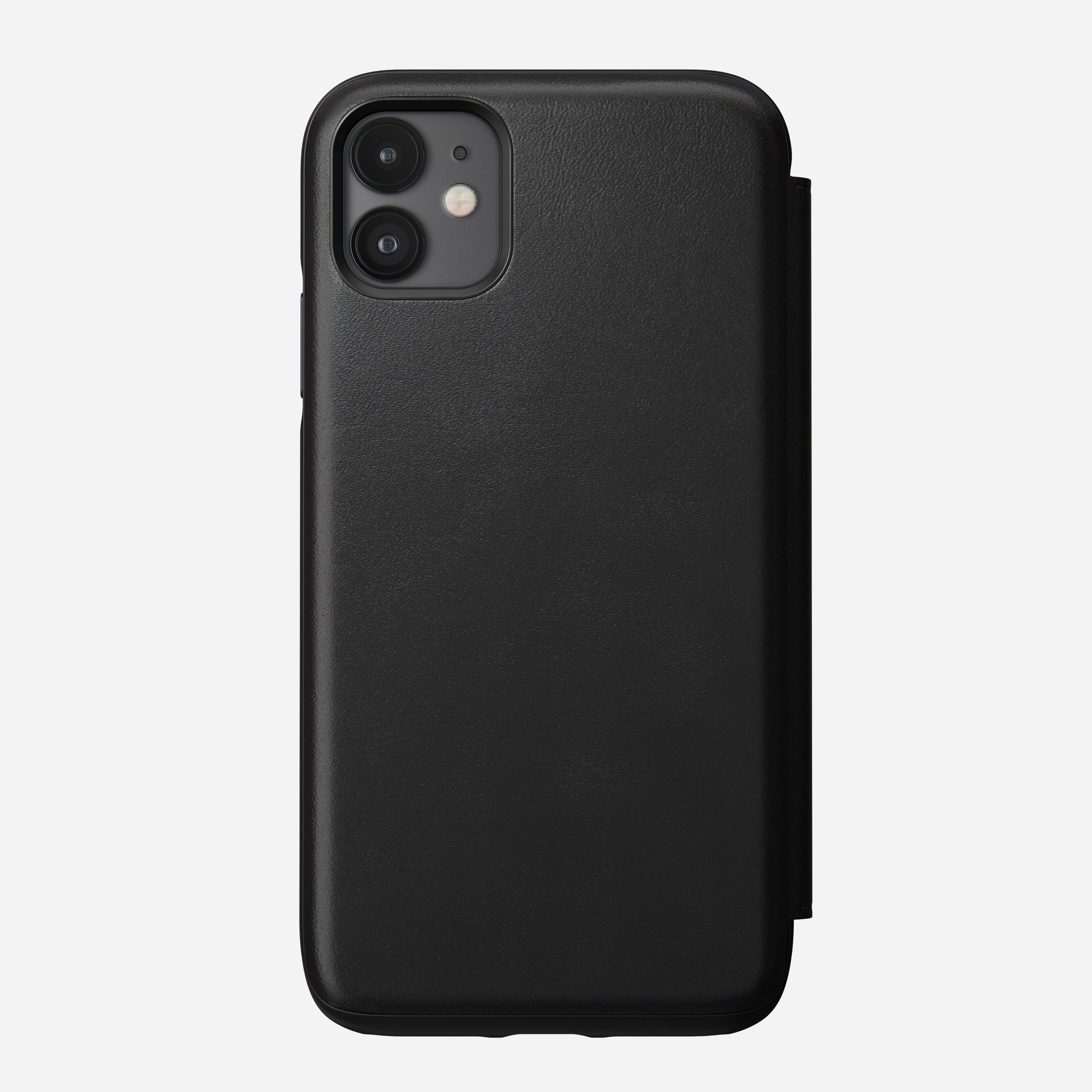 Rugged Leather Folio Case for iPhone 11, Black