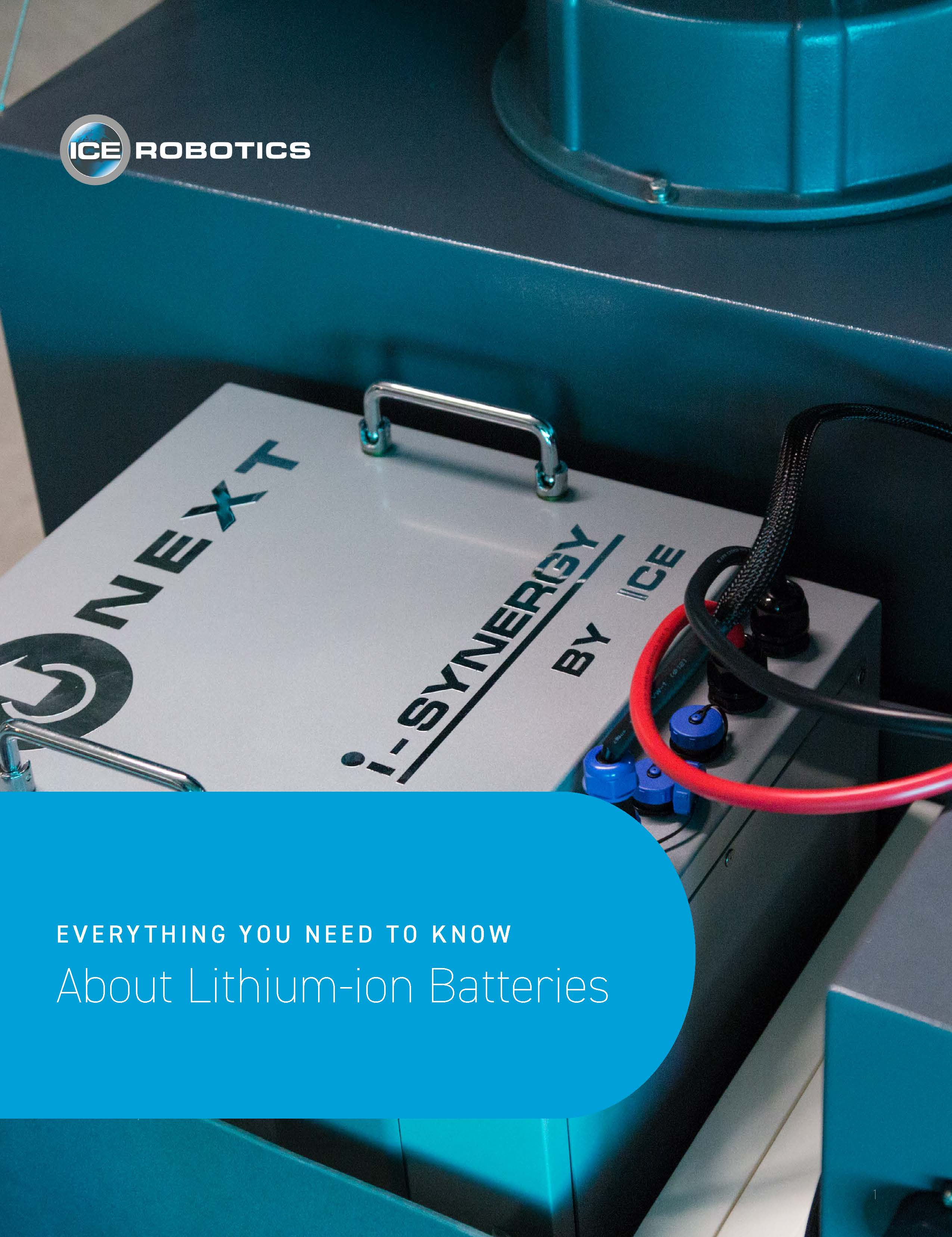 image of  lithium-ion battery in a floor cleaning machine