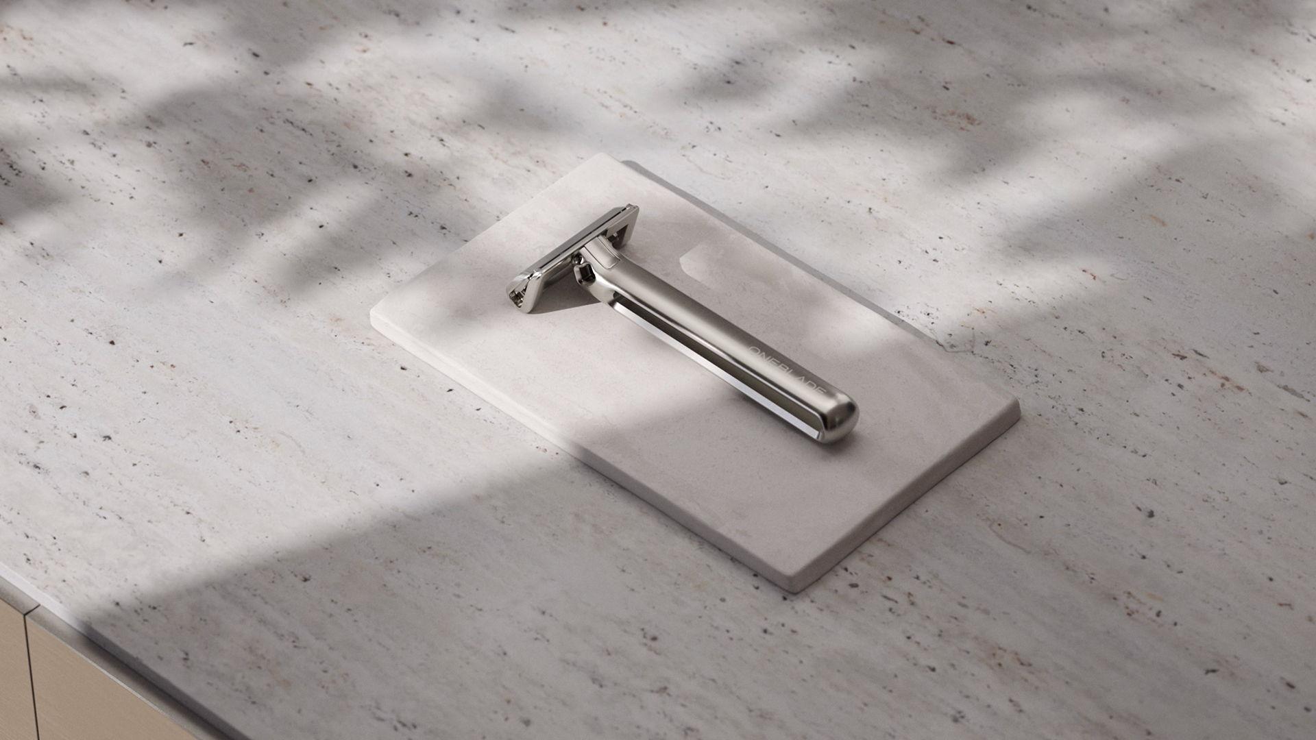 Silver OneBlade razor