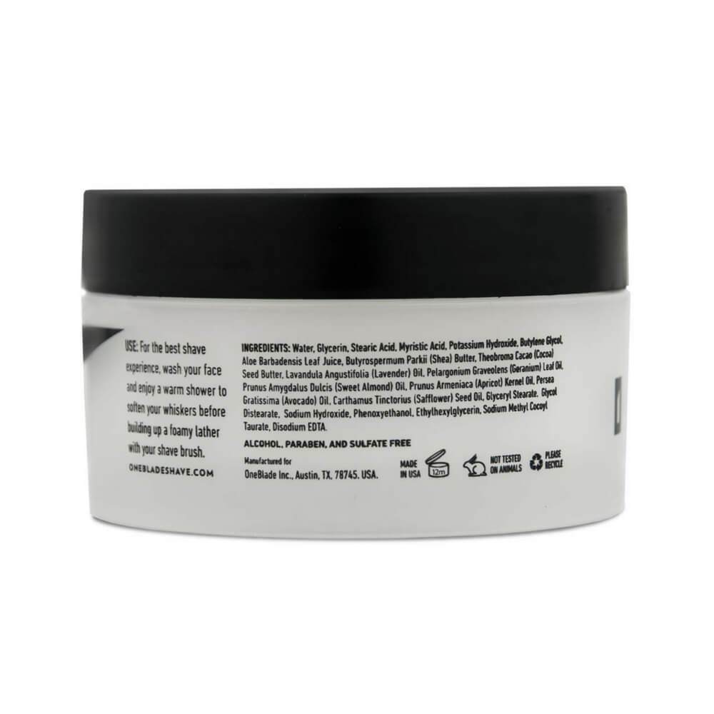 OneBlade Black Tie Skincare Set - Shaving Cream (back)