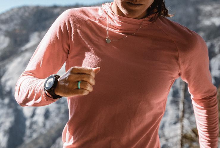 Running with a silicone ring
