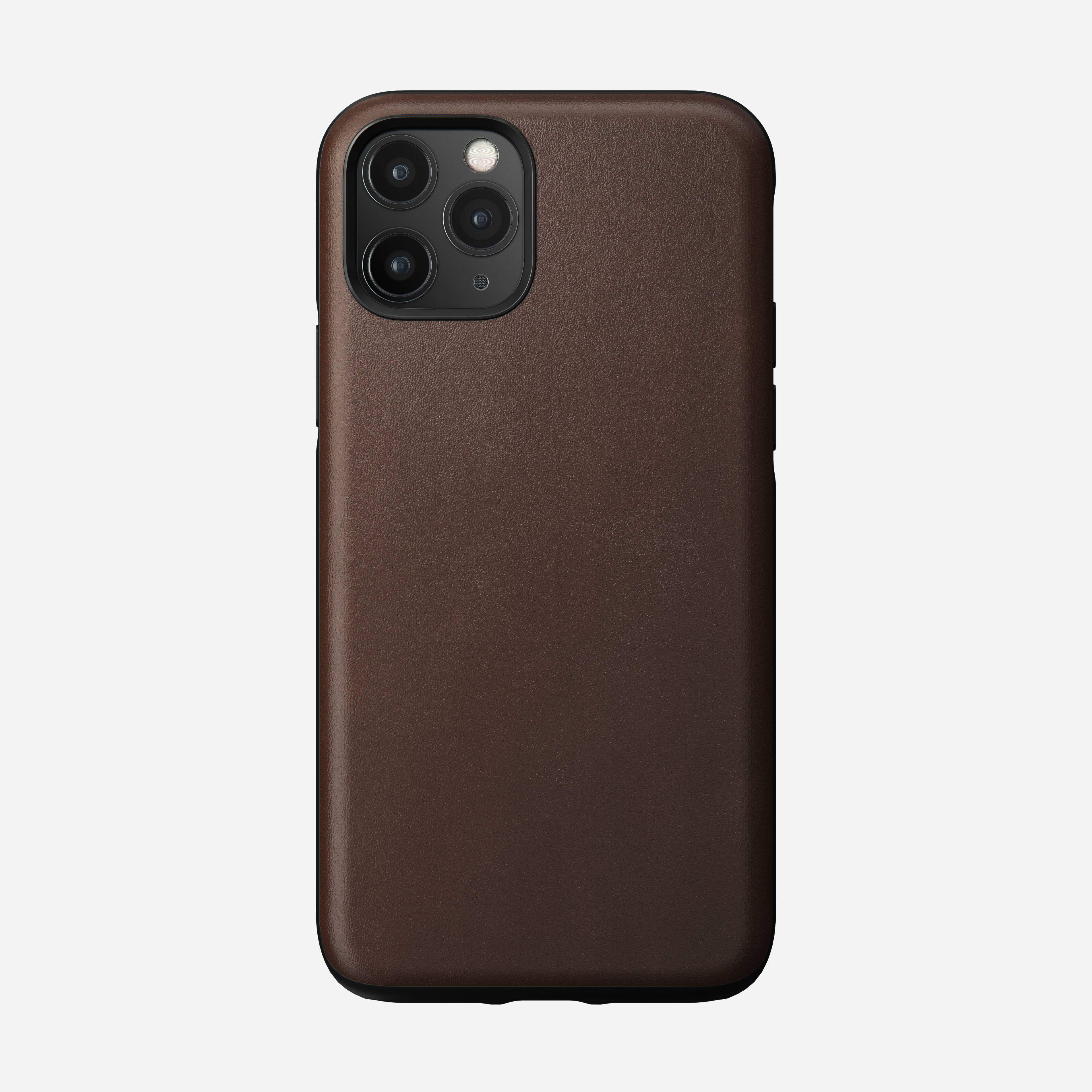 Rugged Leather Case for iPhone 11 Pro, Brown