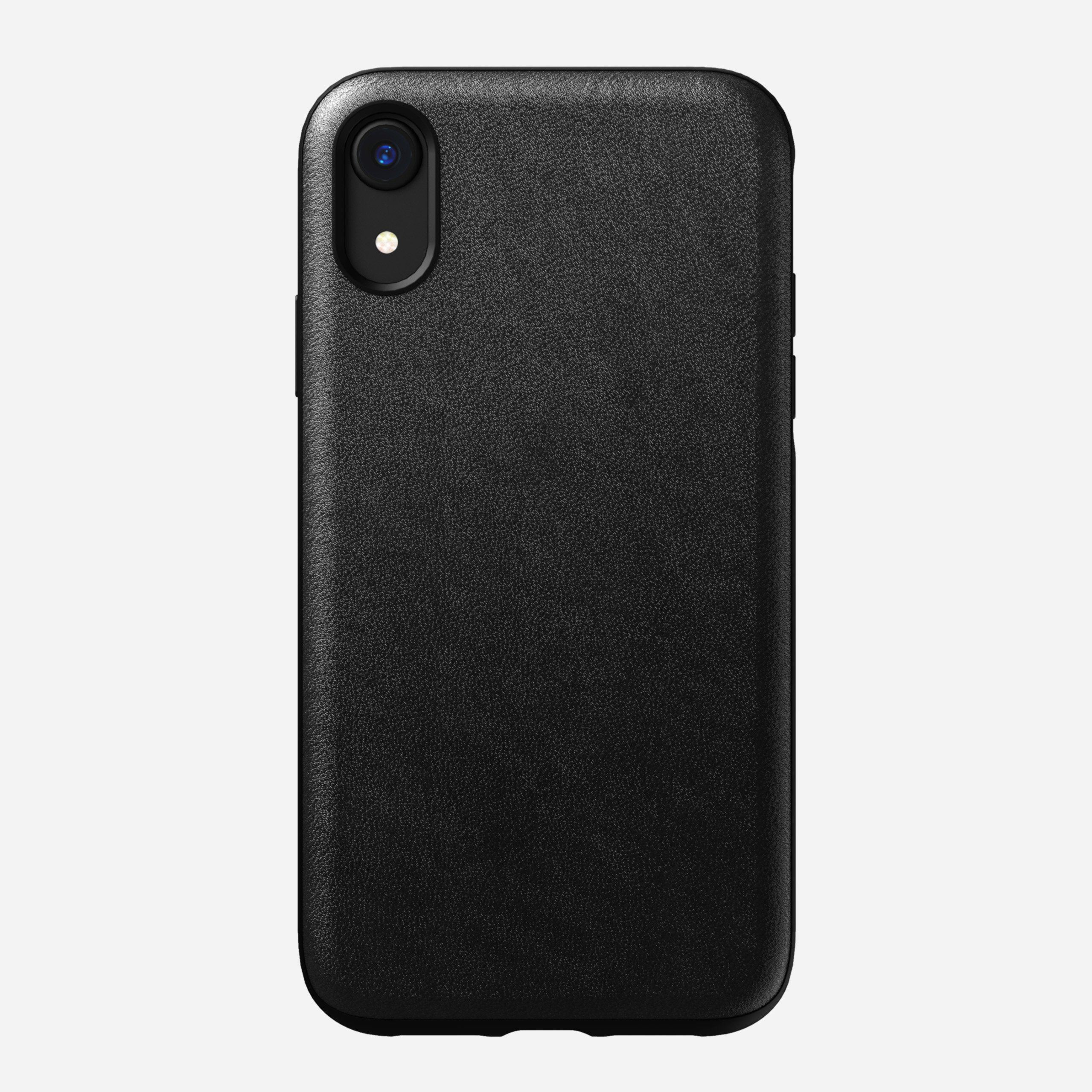 Rugged Leather Case for iPhone Xr, Black