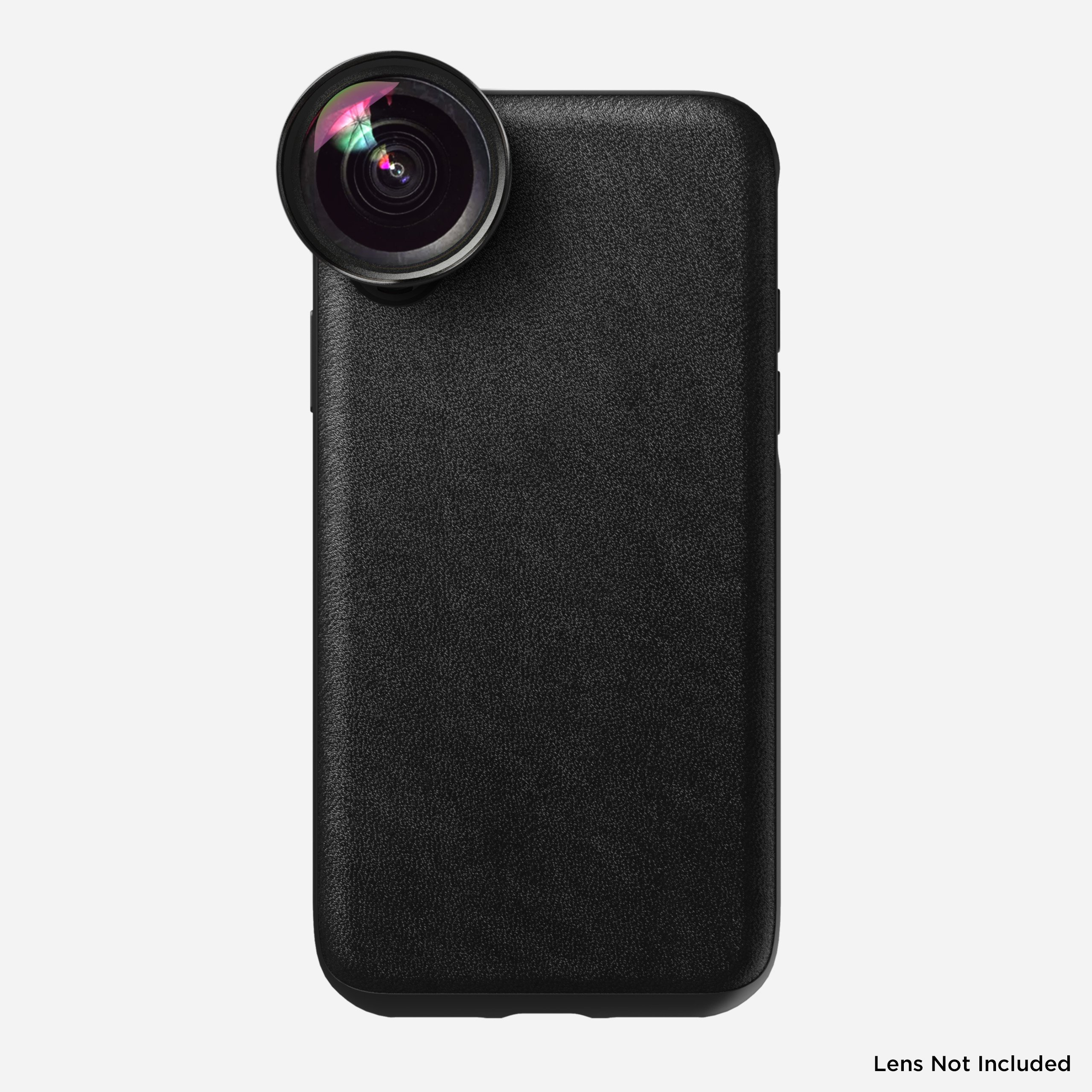 Rugged Leather Moment Case for iPhone Xs, Black