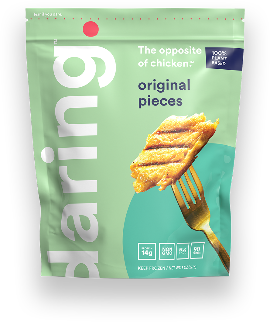 Daring Foods Original Plant Based Chicken Pieces front of package