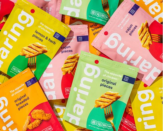 Daring plant based vegan chicken packages