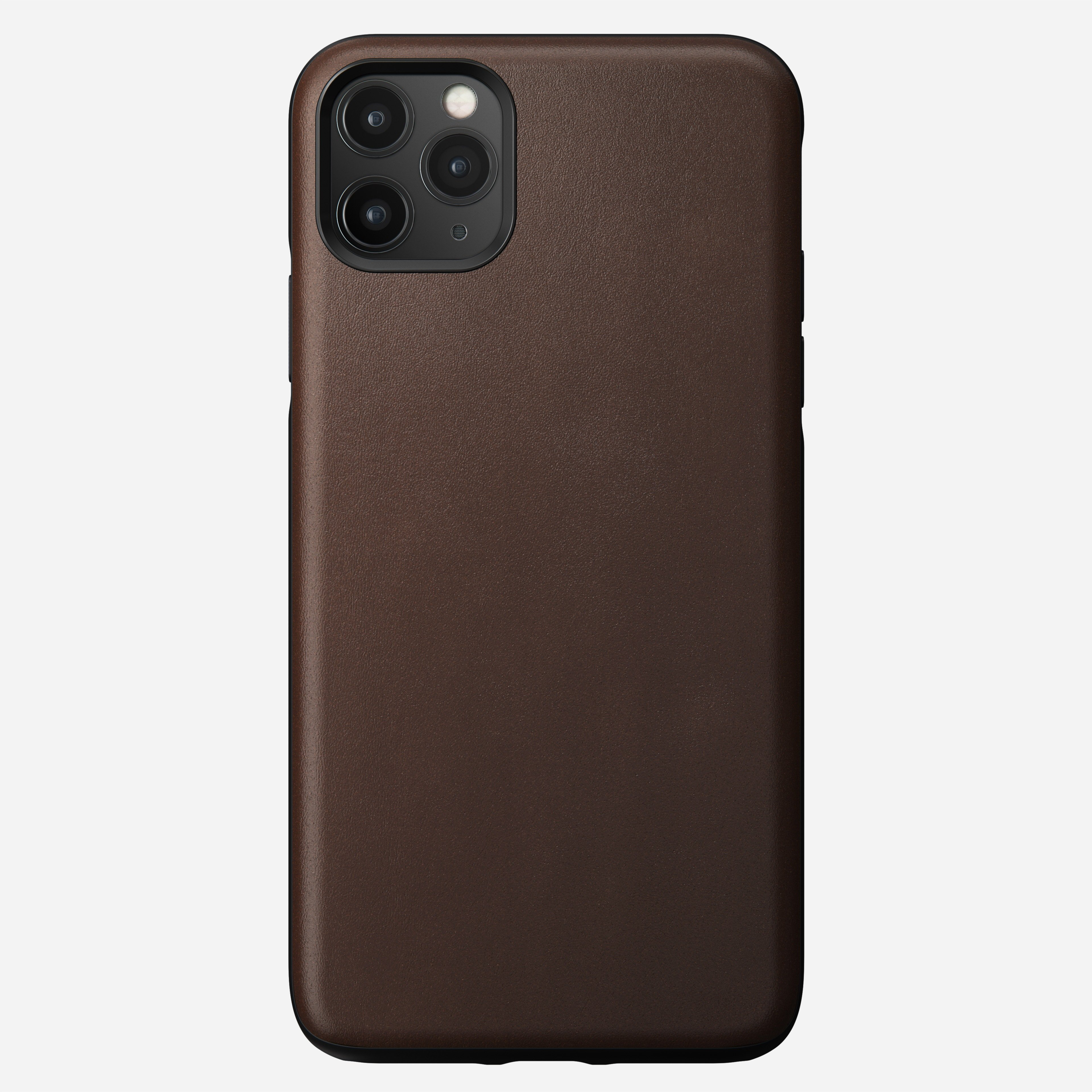 Rugged Leather Case for iPhone 11 Pro Max, Brown