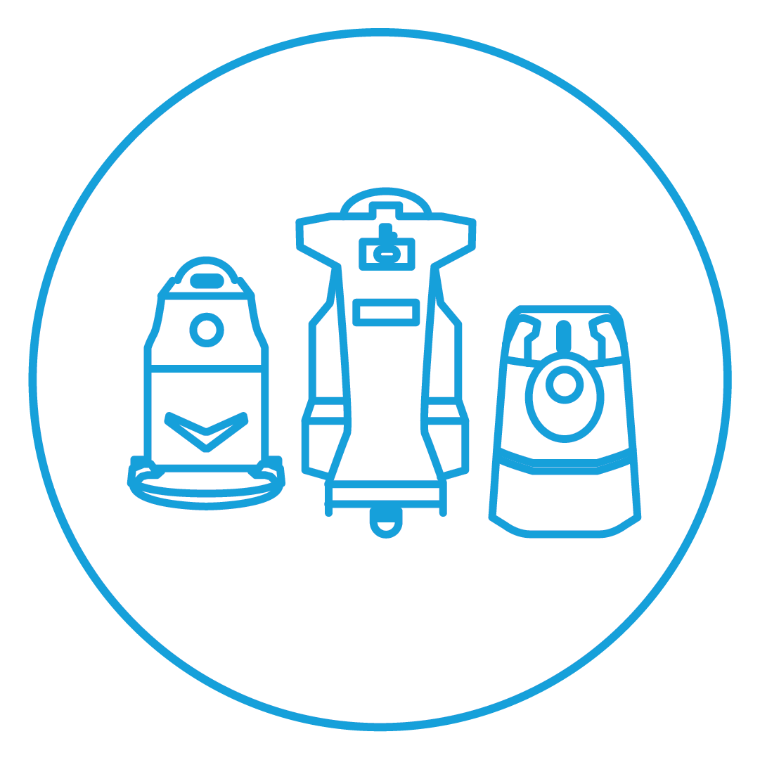 Icon of floor scrubber, autonomous floor scrubber, autonomous vacuum sweeper